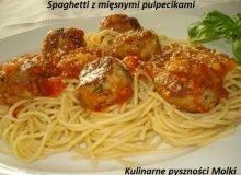 Spaghetti z mięsnymi pulpecikami - ugotuj