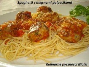 Spaghetti z mięsnymi pulpecikami