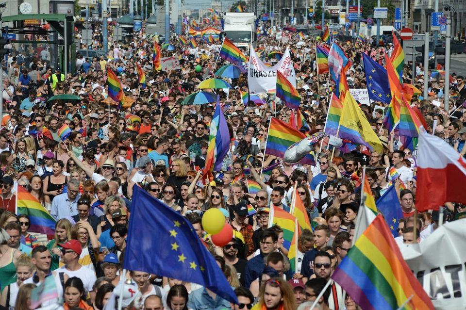 Parada Równości w Warszawie w 2018 r.