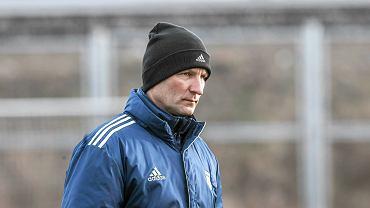 Trening Arki Gdynia. Trener Grzegorz Niciński