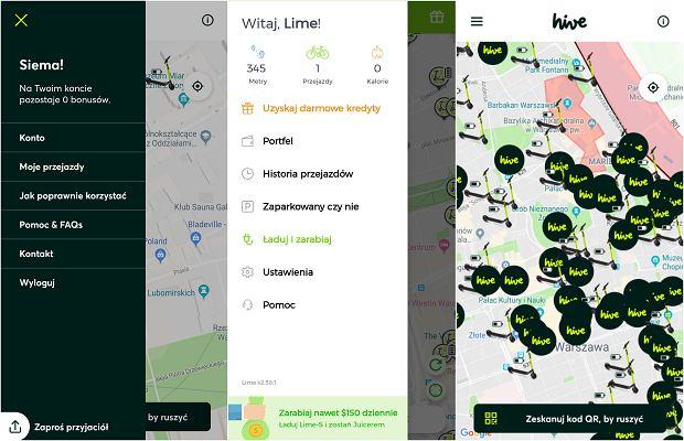 Porównanie aplikacji Lime i Hive