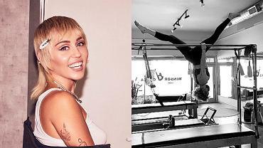 Miley Cyrus wywija akrobacje na drążkach
