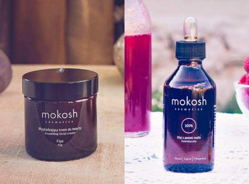 krem do twarzy i olej z pestek malin marki Mokosh