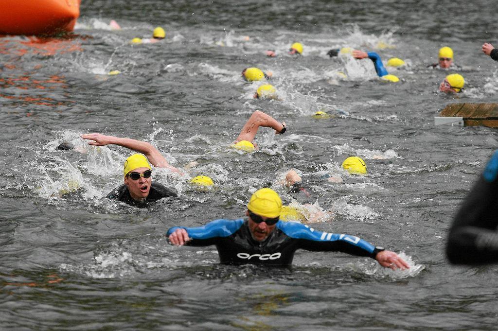 Triathlon nad płocką Sobótką