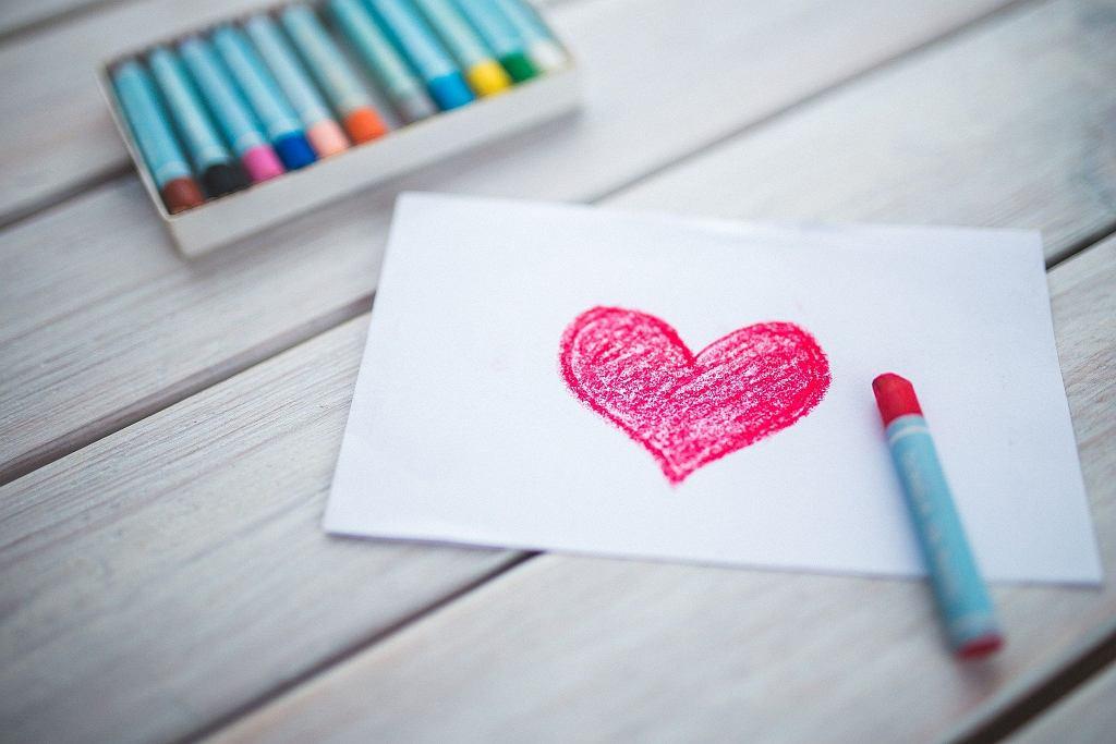 Walentynki, kartka