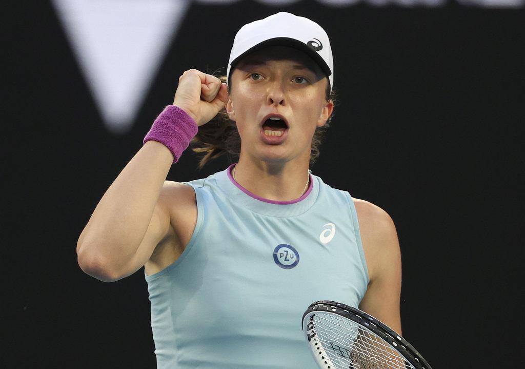 Australian Open 2021. Iga Świątek w meczu z Simoną Halep