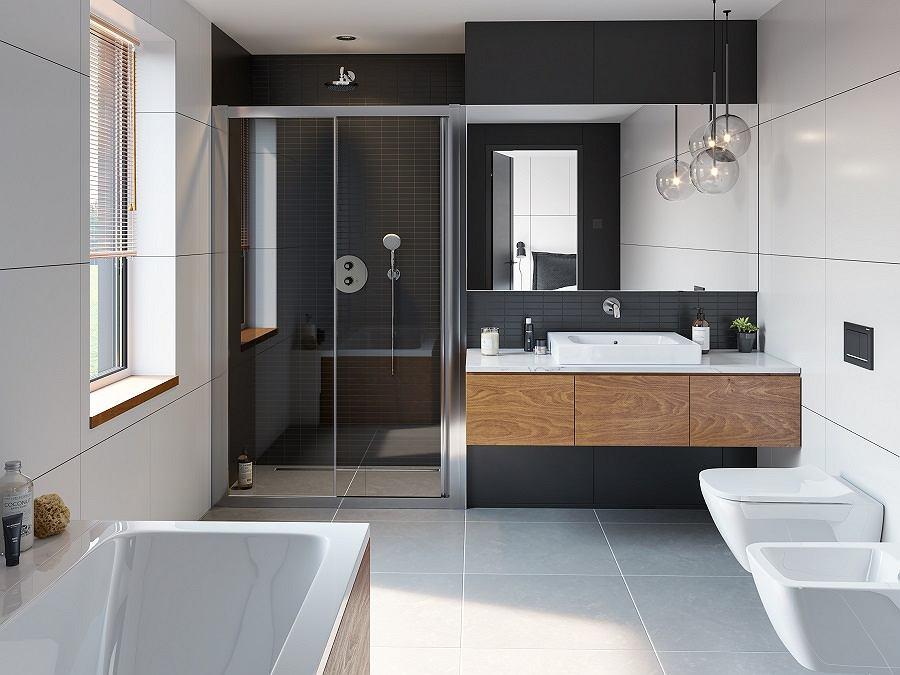 Klasyczna łazienka w stylu nowoczesnym