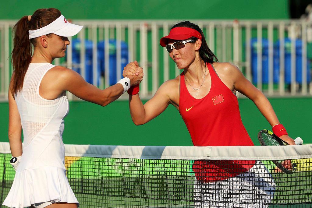 Agnieszka Radwańska po porażce z Chinką Saisai Zheng odpadła w pierwszej rundzie olimpijskiego turnieju tenisistek