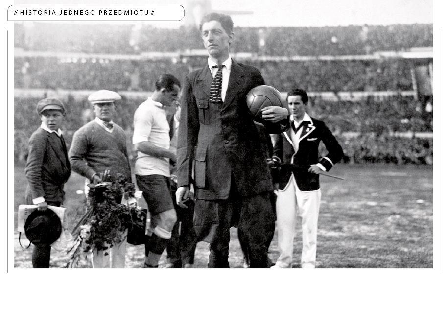 Arbiter John Langenus przed finałem mundialu w Urugwaju w 1930 r.