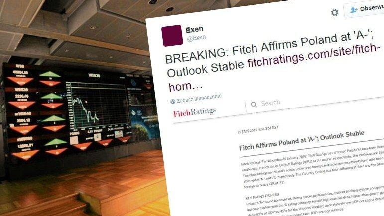 Agencja Fitch potwierdza rating Polski na poziomie A-