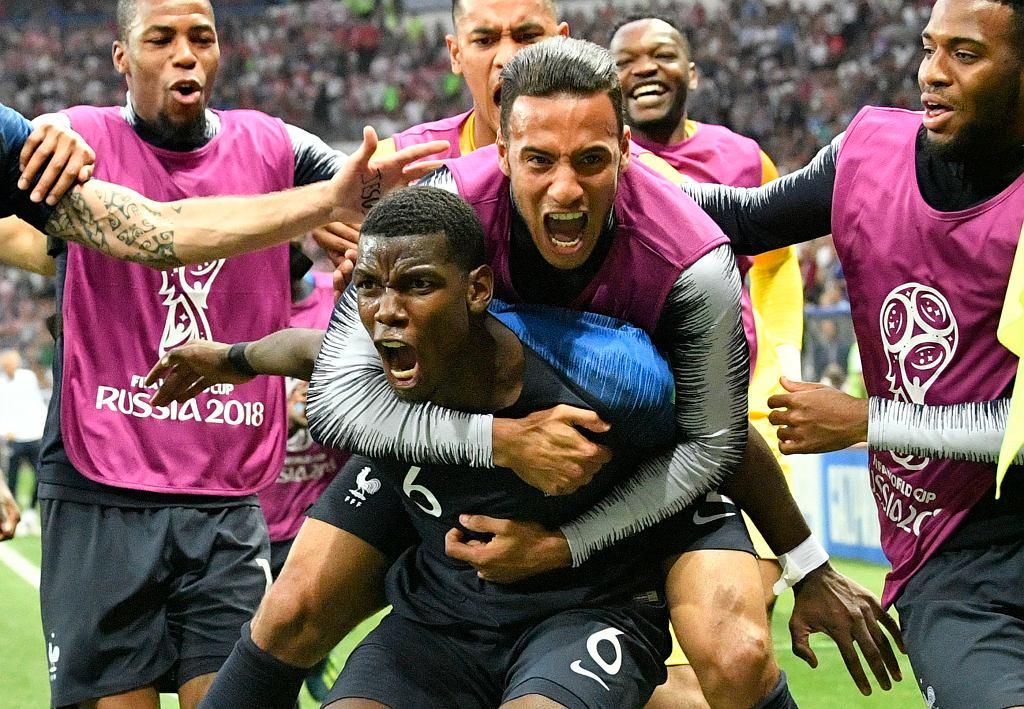 Drużyna Francji po zwycięstwie w Mistrzostwach Świata
