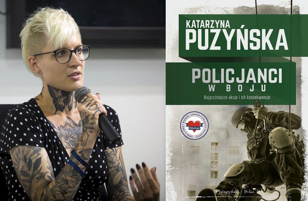Katarzyna Puzyńska i okładka jej nowej książki