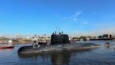 Okręt podwodny ARA San Juan sfotografowany w Buenos Aires w 2014.