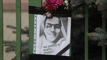 Zdjęcie Kuby, który zginął w piątek w szkole w Wawrze