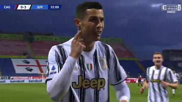 Cristiano Ronaldo w meczu z Cagliari