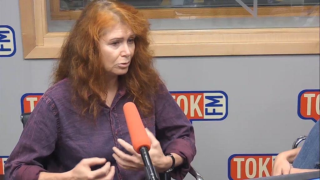 Ewa Siedlecka w studiu TOK FM.