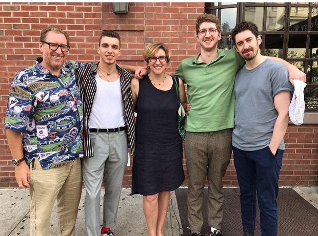 Joanna Blum z mężem i synami, archiwum prywatne