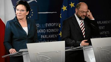 Ewa Kopacz i Martin Schulz