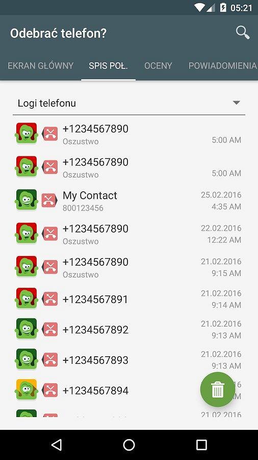 Aplikacja 'Odebrać telefon'