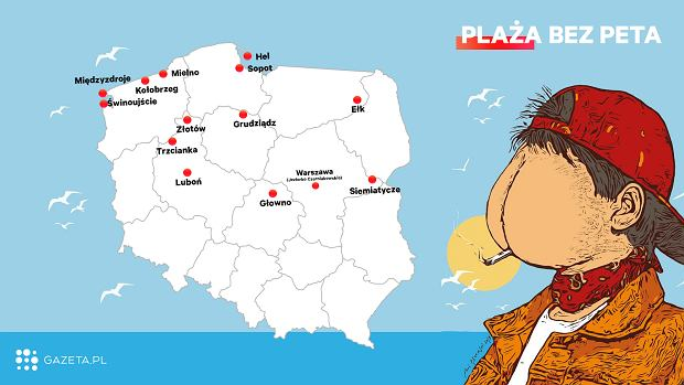 Miasta, które dołączyły do akcji 'Plaża bez peta'