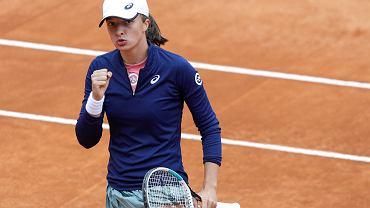 16.05.2021, Rzym, Iga Świątek podczas meczu finałowego w turnieju Italian Open.