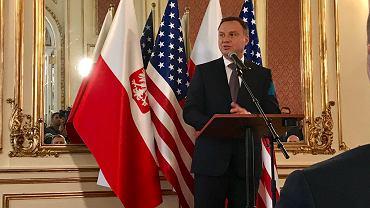 Andrzej Duda podczas wizyty w Nowym Jorku