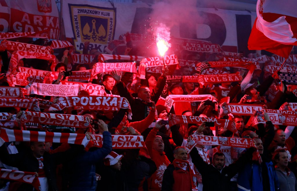 Polscy kibice podczas ostatniego meczu w Dublinie