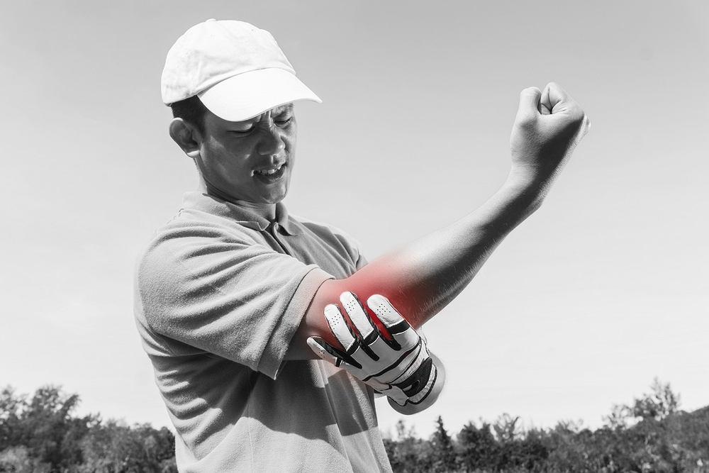 Łokieć golfisty to przypadłość objawiająca się bólem występującym po wewnętrznej stronie łokcia