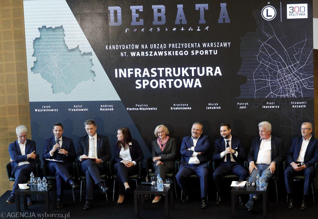 Debata kandydatów na prezydenta Warszawy na temat sportu