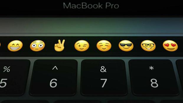 Touchbar wyświetli emoticony