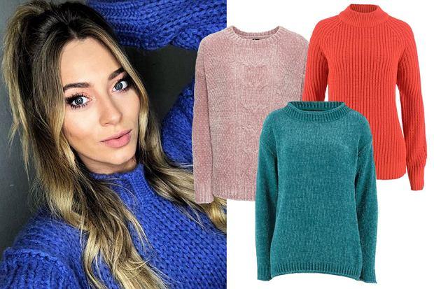 ciepłe kolorowe swetry damskie / mat. partnera / www.instagram.com/marcelina_zawadzka/