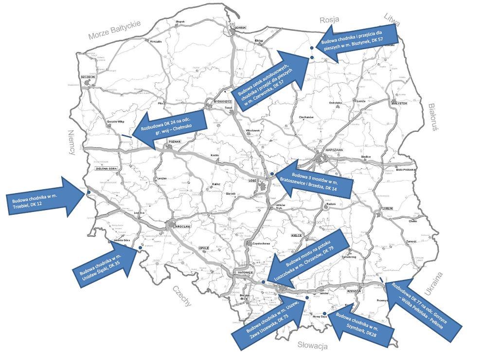 150 mln zł na zadania drogowe w 6 województwach