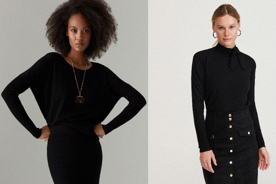 Czarny sweter damski