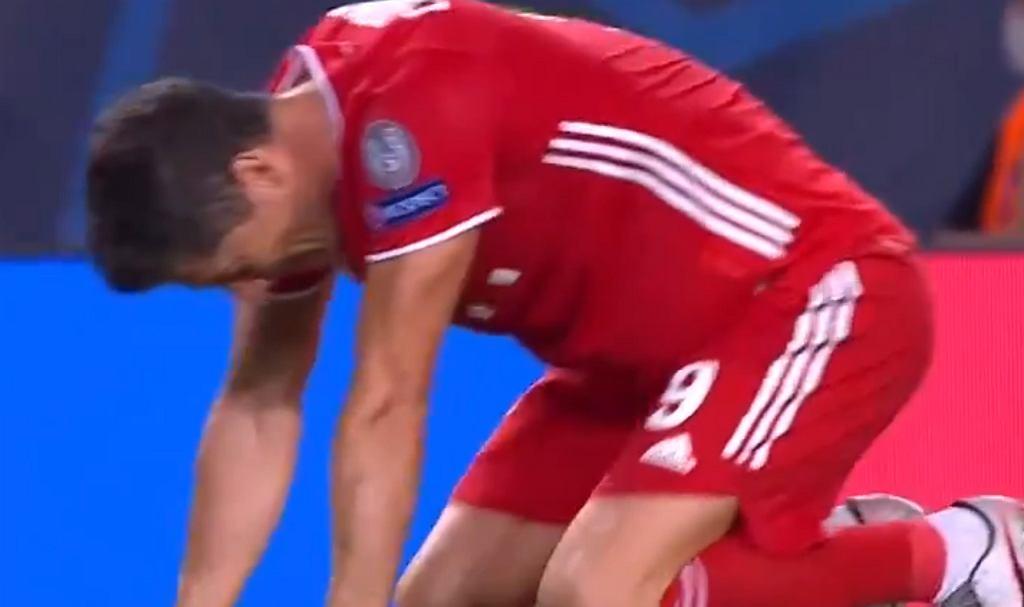 Robert Lewandowski cieszy się z awansu do finału Ligi Mistrzów