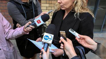 Anna Siedlecka w rozmowie z dziennikarzami