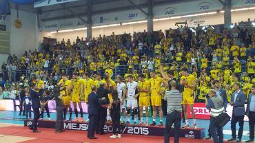 Ceremonia wręczenia medali siatkarzom PGE Skry Bełchatów