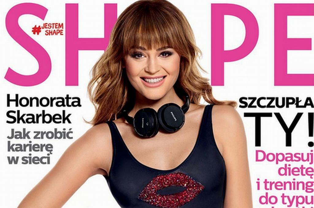 Honorata Skarbek 'Honey' na okładce magazynu 'Shape'
