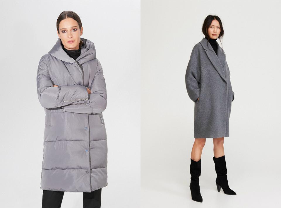 szare płaszcze na zimę