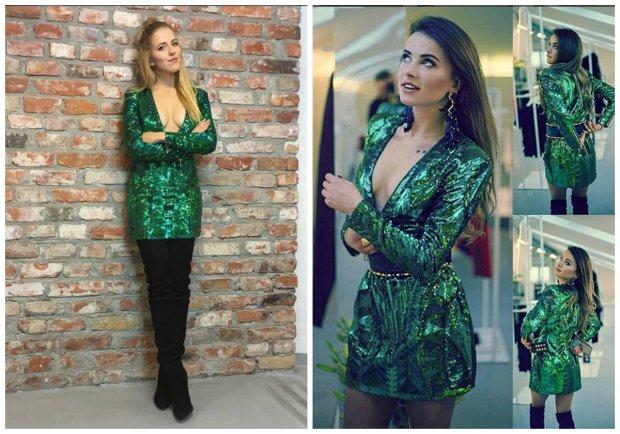 Jessica Mercedes i Maffashion w sukience Balmain x H&M