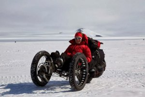 Zdobyła południowy biegun. Na rowerze
