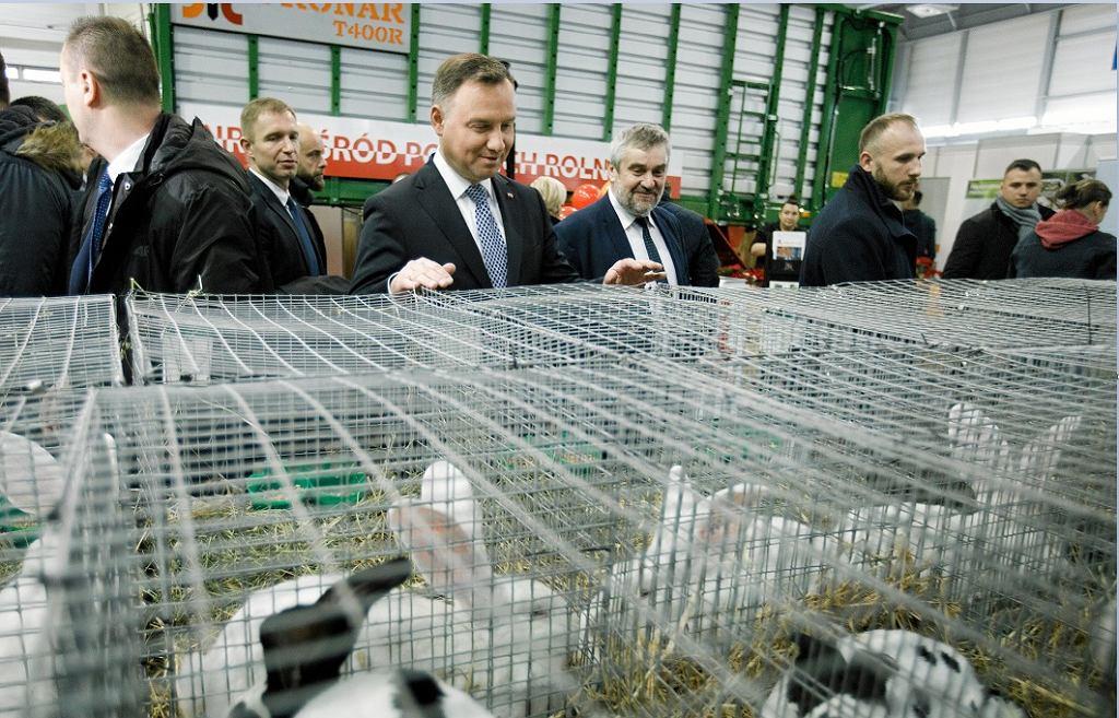 Andrzej Duda podczas Narodowej Wystawy Rolniczej