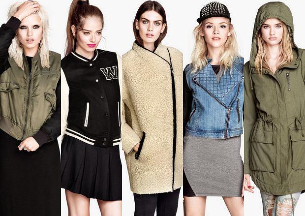 Kurtki i płaszcze H&M na jesień 2013