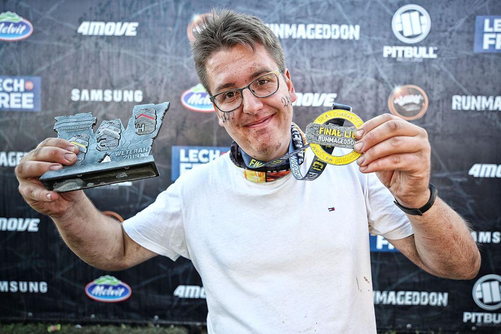 Łukasz Żwirecki z medalami