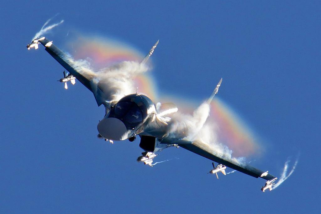 Rosyjski bombowiec taktyczny Su-34