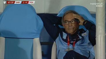Tak trener San Marino cieszył się z gola. Jakby nic się nie stało