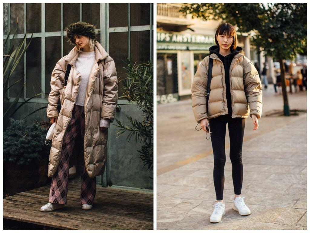 Pikowane kurtki oversize