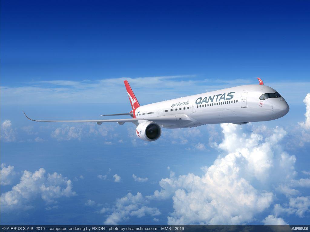 Wizualizacja Airbusa A350-1000 linii Qantas