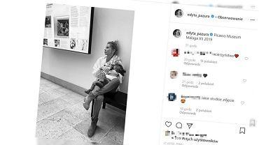 Edyta Pazura karmi piersią córkę w muzeum. 'Nie wiem, jak wy to dalej potraficie'