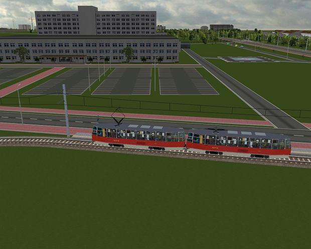 Wizualizacja linii tramwajowej na Parkitkę - szpital
