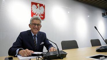Posiedzenie komisji Sprawiedliwosci i Praw Czlowieka w Warszawie. na zdj. Stanisław Piotrowicz